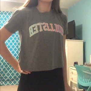 size small hollister crop top